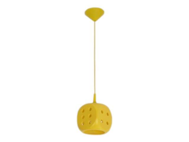 Lampa sufitowa dziecięca KOSTKA DO GRY żółta 5331 Cleoni