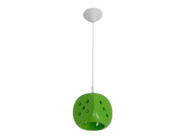 Lampa sufitowa dziecięca KOSTKA DO GRY zielona 5334 Cleoni