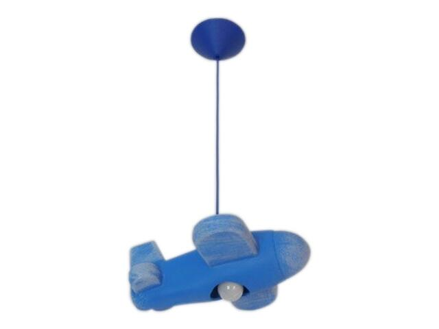 Lampa sufitowa dziecięca SAMOLOT niebieska 5422 Cleoni