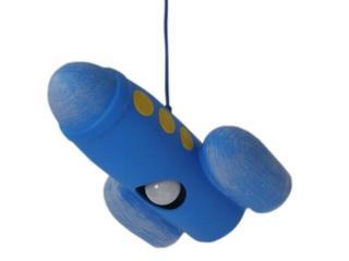 Lampa sufitowa dziecięca RAKIETA niebieska 5424 Cleoni