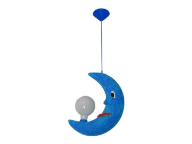 Lampa sufitowa dziecięca ROGAL niebieska 5428 Cleoni