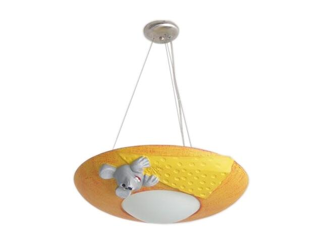 Lampa sufitowa dziecięca MILO MYSZ żółto-pomarańczowa 5495 Cleoni