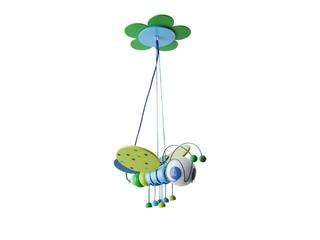 Lampa sufitowa dziecięca Pszczółka 010301 niebiesko-zielona Klik