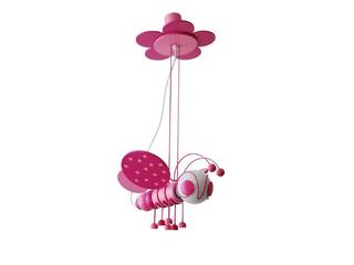 Lampa sufitowa dziecięca Pszczółka 010306 fioletowo-różowa Klik