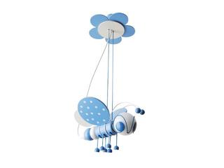 Lampa sufitowa dziecięca Pszczółka 010308 niebiesko-biała Klik