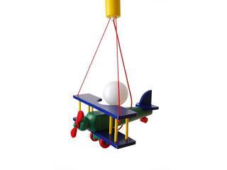 Lampa sufitowa dziecięca Samolot mały 010102 granatowo-zielona Klik