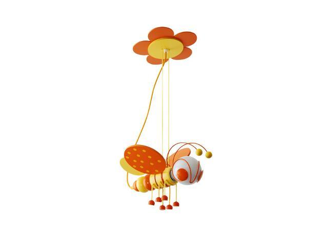 Lampa sufitowa dziecięca Pszczółka 010304 pomarańczowo-żółta Klik