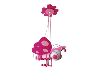Lampa sufitowa dziecięca Motyl 010506 fioletowo-różowa Klik