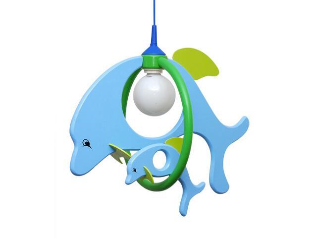 Lampa sufitowa dziecięca Delfin 1 duży 1 mały 020203 niebiesko-zielona Klik