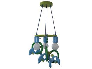 Lampa sufitowa dziecięca Delfin 3 flg 011301 zielono-niebieska Klik