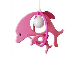 Lampa sufitowa dziecięca Delfin 1 duży 1 mały 020204 fioletowo-różowa Klik