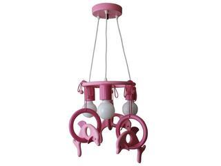 Lampa sufitowa dziecięca Delfin 3 flg 011303 fioletowo-różowa Klik