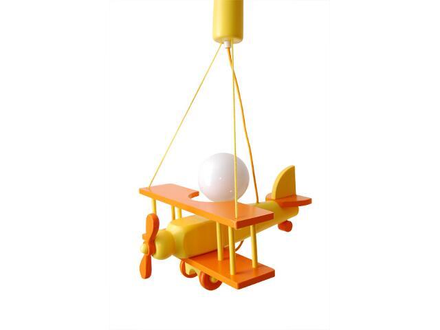 Lampa sufitowa dziecięca Samolot mały 010103 pomarańczowo-żółta Klik