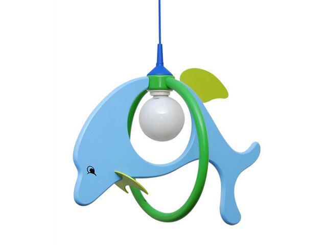 Lampa sufitowa dziecięca Delfin 1 duży 020103 niebiesko-zielona Klik