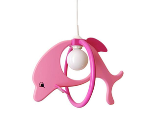 Lampa sufitowa dziecięca Delfin 1 duży 020104 fioletowo-różowa Klik