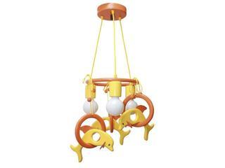 Lampa sufitowa dziecięca Delfin 3 flg 011302 pomarańczowo-różowa Klik