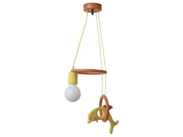 Lampa sufitowa dziecięca Delfin 1 flg 011102 pomarańczowo-żółta Klik