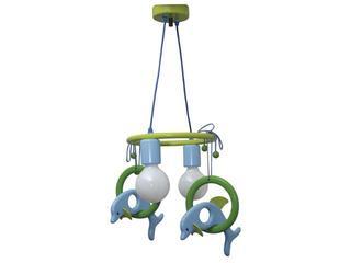 Lampa sufitowa dziecięca Delfin 2 flg 011201 zielono-niebieska Klik