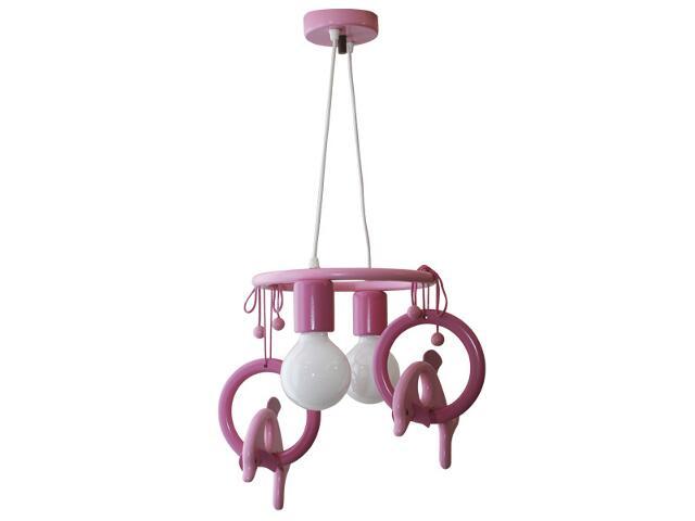 Lampa sufitowa dziecięca Delfin 2 flg 011203 fioletowo-różowa Klik