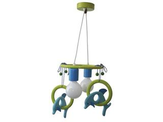 Lampa sufitowa dziecięca Delfin 2 flg 011204 turkusowo-zielona Klik