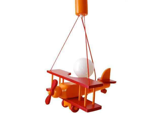Lampa sufitowa dziecięca Samolot mały 010104 czerwono-pomarańczowa Klik