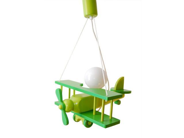 Lampa sufitowa dziecięca Samolot mały 010108 zielona Klik