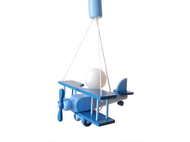 Lampa sufitowa dziecięca Samolot mały 010109 niebieska Klik