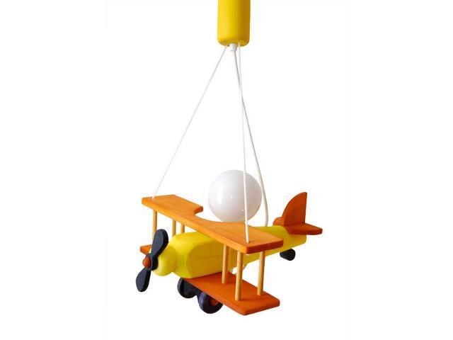 Lampa sufitowa dziecięca Samolot mały 010114 pomarańczowo-żółta Klik