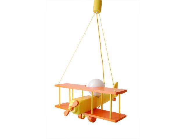 Lampa sufitowa dziecięca Samolot duży 010203 pomarańczowo-żółta Klik