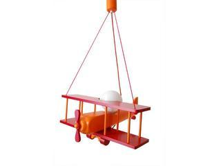 Lampa sufitowa dziecięca Samolot duży 010204 czerwono-pomarańczowa Klik