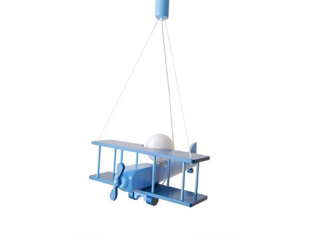 Lampa sufitowa dziecięca Samolot duży 010209 niebieska Klik