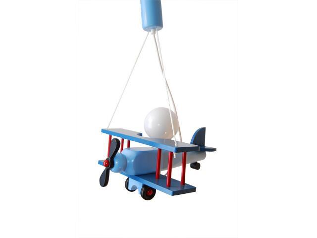 Lampa sufitowa dziecięca Samolot duży 010212 niebieska Klik