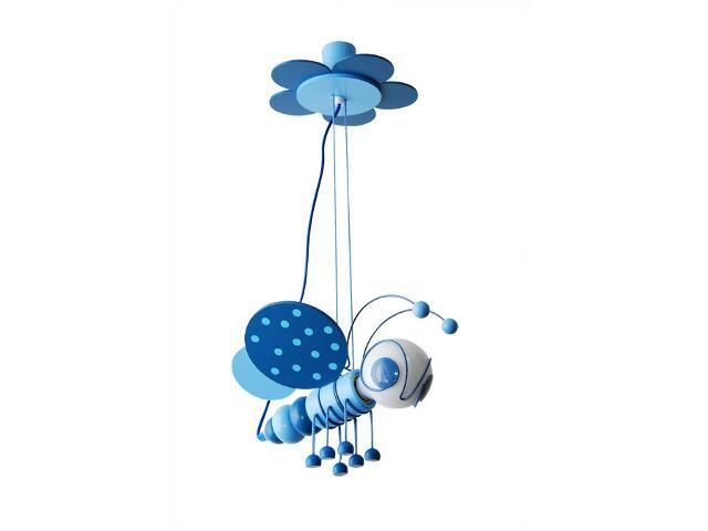 Lampa sufitowa dziecięca Pszczółka 010302 niebieska Klik