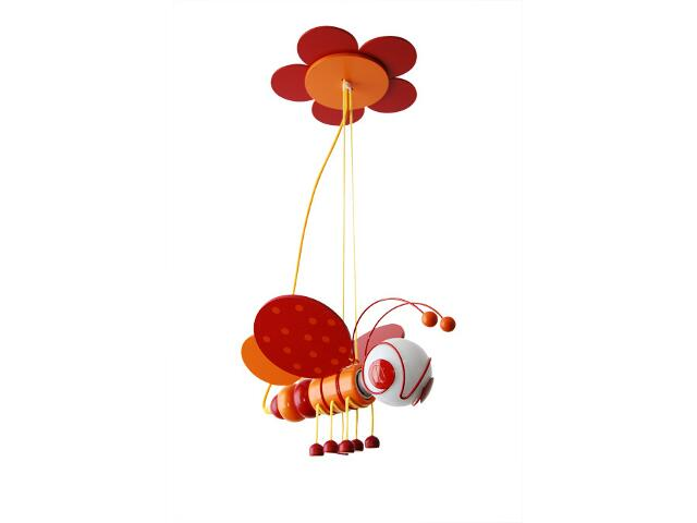 Lampa sufitowa dziecięca Pszczółka 010305 czerwono-pomarańczowa Klik