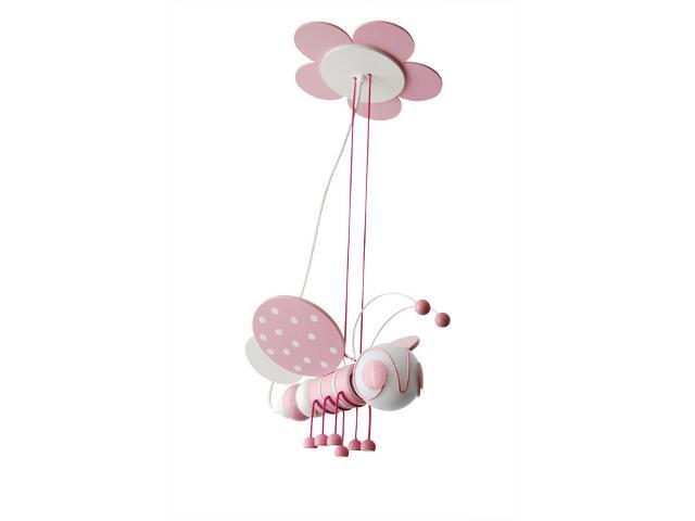 Lampa sufitowa dziecięca Pszczółka 010307 różowo-biała Klik