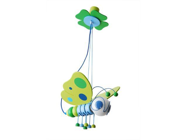 Lampa sufitowa dziecięca Motyl 010501 zielono-niebieska Klik