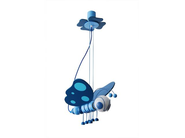 Lampa sufitowa dziecięca Motyl 010502 niebieska Klik
