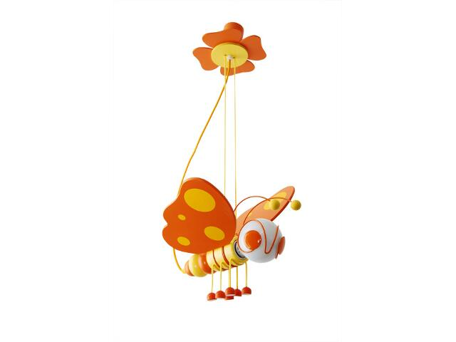 Lampa sufitowa dziecięca Motyl 010504 pomarańczowo-żółta Klik