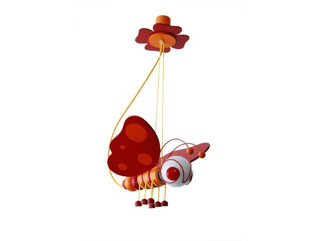 Lampa sufitowa dziecięca Motyl 010505 czerwono-pomarańczowa Klik