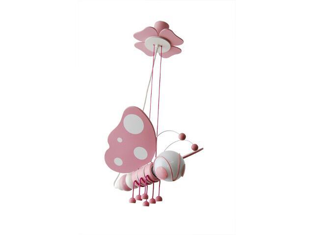 Lampa sufitowa dziecięca Motyl 010507 różowo-biała Klik
