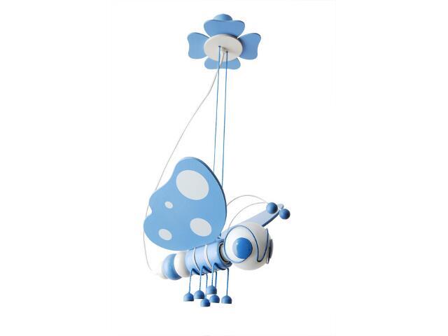 Lampa sufitowa dziecięca Motyl 010508 niebiesko-biała Klik