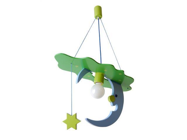 Lampa sufitowa dziecięca Księżyc 010602 niebiesko-zielona Klik