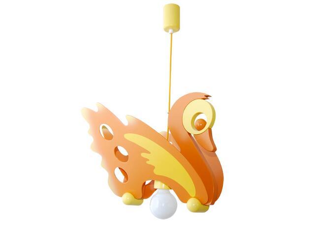 Lampa sufitowa dziecięca Łabędź 010703 pomarańczowo-żółta Klik