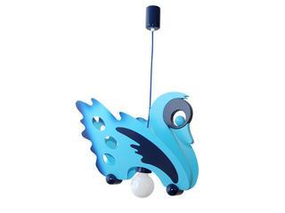 Lampa sufitowa dziecięca Łabędź 010707 niebiesko-granatowa Klik