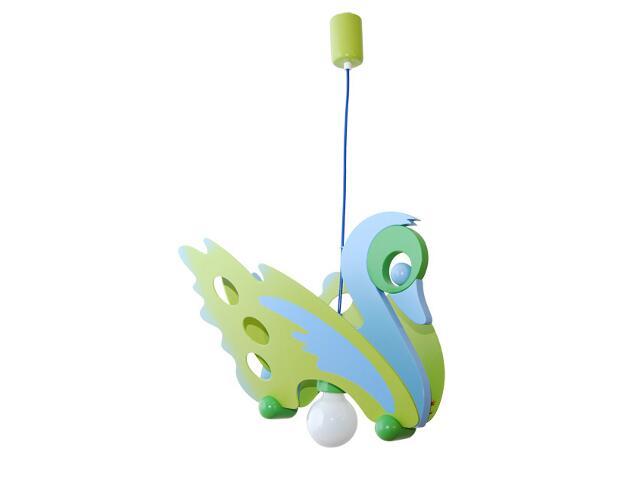 Lampa sufitowa dziecięca Łabędź 010710 zielono-niebieska Klik