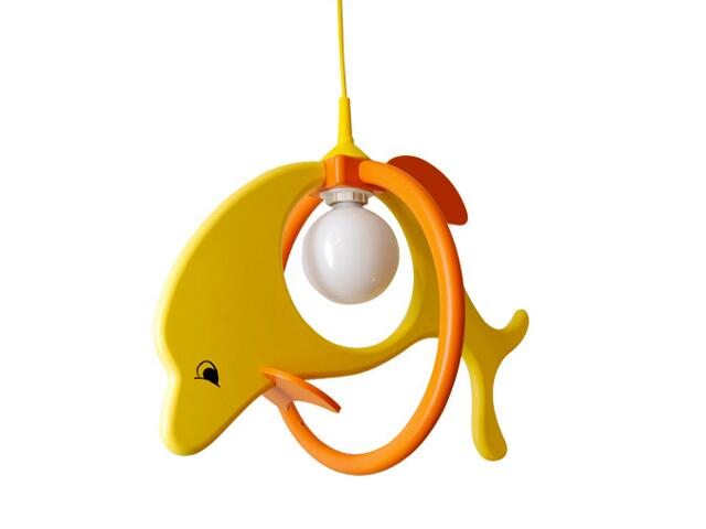 Lampa sufitowa dziecięca Delfin 1 duży 020101 żółto-pomarańczowa Klik