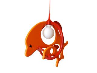 Lampa sufitowa dziecięca Delfin 1 duży 1 mały 020202 pomarańczowo-czerwona Klik