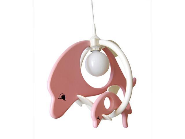 Lampa sufitowa dziecięca Delfin 1 duży i 1mały 020205 różowo-biała Klik
