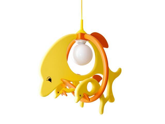 Lampa sufitowa dziecięca Delfin 1 duży 2 mały 020301 żółto-pomarańczowa Klik