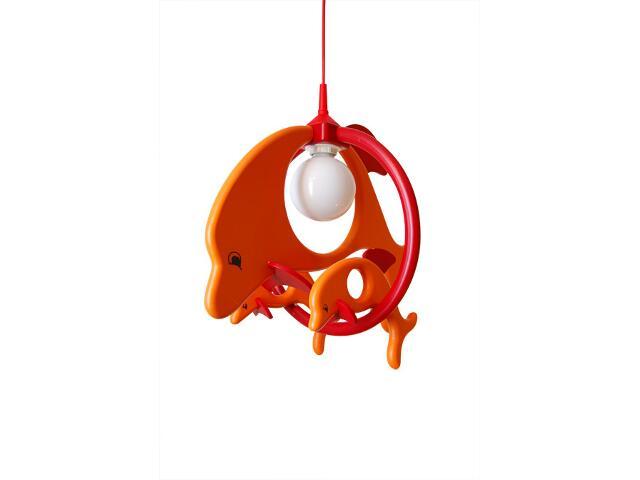 Lampa sufitowa dziecięca Delfin 1 duży 2 mały 020302 pomarańczowo-czerwona Klik